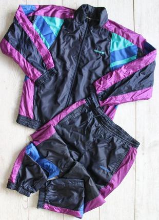 Винтажный яркий спортивный костюм adidas vintage оригинал 90-ые года унискес
