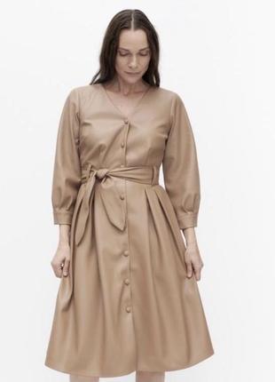 Кожаное платье шкіряна сукня reserved