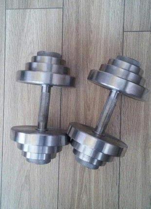 Гантели металлические разборные