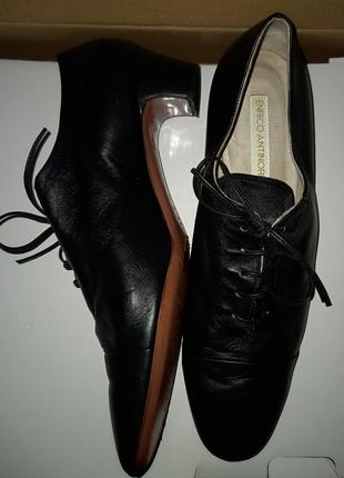 Мягчайшие кожаные туфли enrico antinori, италия, оригинал