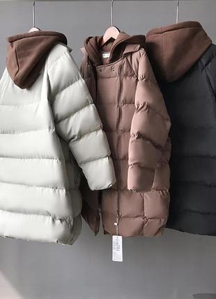 Зимняя куртка парка пуховик плащ пальто