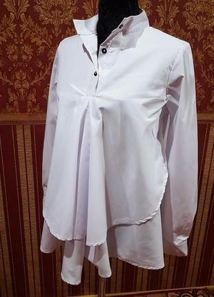 Рубашка с перепадом длины