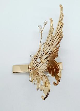 Заколка крылья бабочки украшение для волос