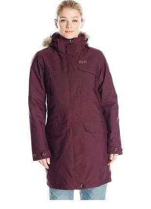 Фирменная куртка парка зимняя jack wolfskin white rock coat 3в1 marmot