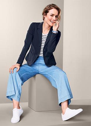Мягкий.красивый пиджак блейзер с венскими швами для женственного силуэта tchibo