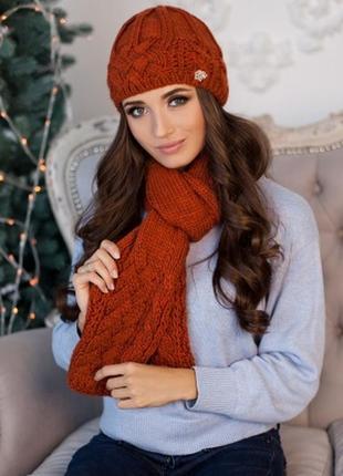 Набор шапочка на флисе  и шарф, можно отдельно шапку или шарф. распродажа.