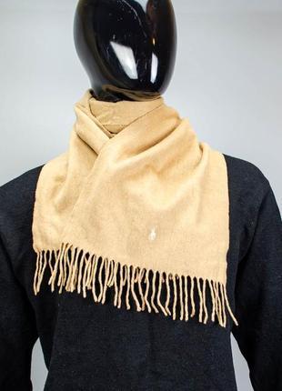 Фирменный шерстяной шарф polo ralph lauren.кашемир
