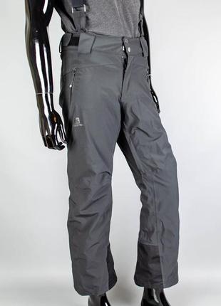 Фирменные лыжные штаны salomon advancedskin dry.трекинговые штаны