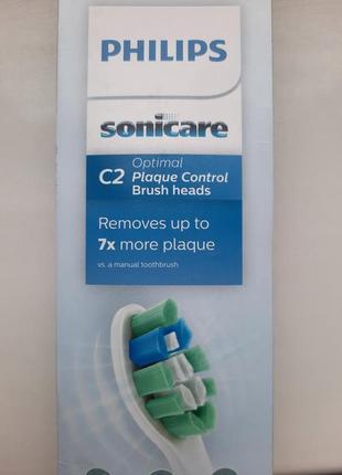 Щітка насадка philips sonicare c2 optimal plaque control 3 шт