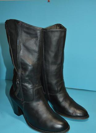 Женские  кожаные  ботинки  tamaris