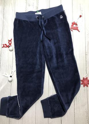 Велюровые штаны benetton, спортивні штани англія, брюки
