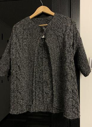 Женский теплый вязаный кардиган (свитер, кофта) esprit