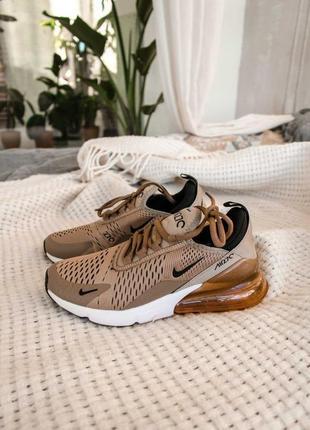Женские кроссовки nike air max 270 brown ❤️