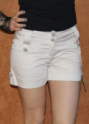 Хлопковые шорты удлиненные, размеры 42, 44, 46, 50-52