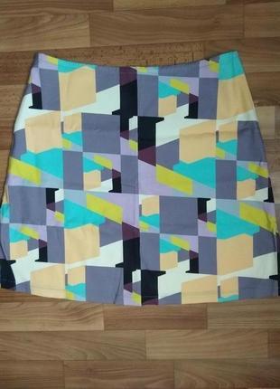 Яркая, разноцветная дизайнерская юбка-трапеция юбка мини от nathalie pellon