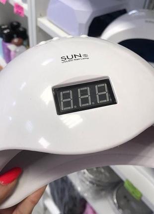 ♥️профессиональная led-лампа для сушки гелей и гель лаков sun 5 48w