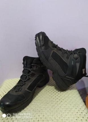 Термо водонепроницаемые ботинки salomon thinsulate 200gram gore-tex
