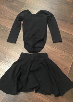 Купальник детский гимнастический и юбка. фуликр. комплект.