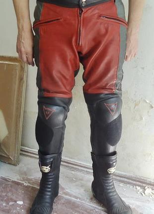 Мотоштаны dainese italy кожаные размер 52