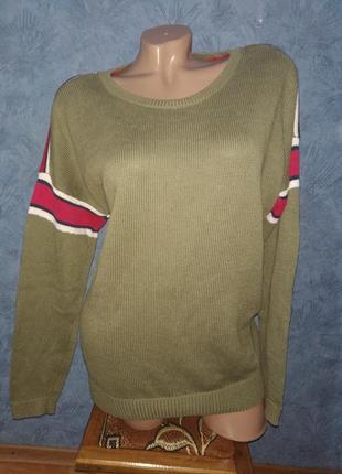 Актуальный трендовый  обьемный свитер оверсайз большого размера