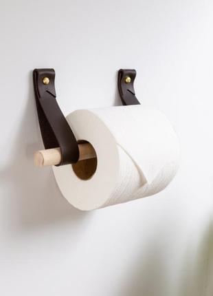 Настенный вешак у ванную, вешак для рулонов с туалетной бумагой, кожаный вешак
