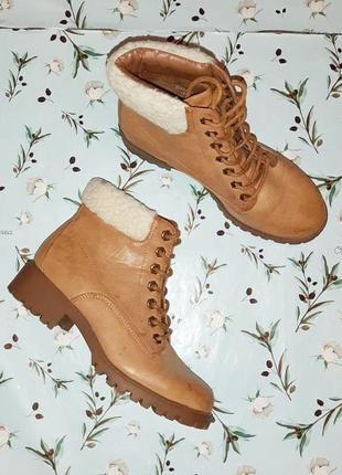 🎁1+1=3 модные женские кожаные полусапожки ботинки демисезон new look, размер 37