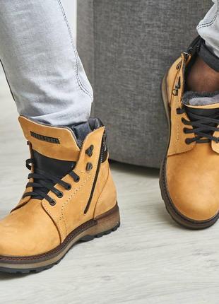 Кожаные зимние осенние ботинки