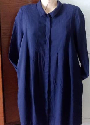 Cos платье рубашка с карманами,вискоза+шерсть.