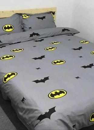 Комплект постельного белья бязь голд, бэтмен серый