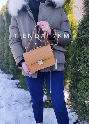 Клатч 60317-83 оранжевый / сумка через плечо на комбинированном рмешке