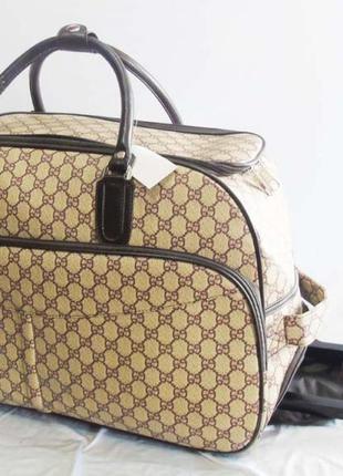 Шикарная сумка саквояж на колесах без предоплат валіза сумка на колесах