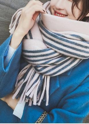 Стильний теплий шарф, накидка, палантин, платок 778