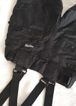 Protest лыжные штаны, для сноуборда, подростковые штаны с подтяжками, полукомбинезон