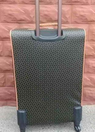 Эксклюзив! богатый чемодан из эко кожи средний без предоплат валіза середня киев2 фото