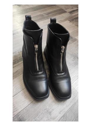 🖤 стильные кожаные демисезонные ботинки