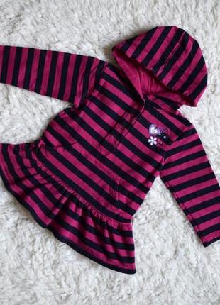 Распродажа детской одежды и обуви утепленное платье  с капюшоном