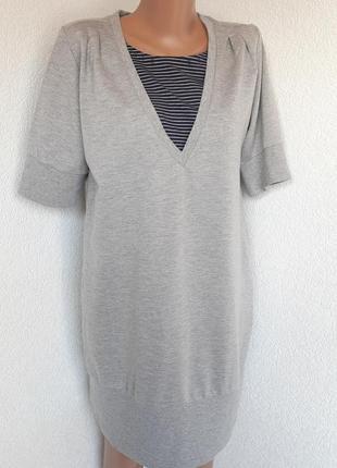 Серое платье-туника