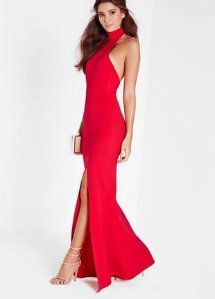 Шикарное роскошное вечернее платье в пол с открытой спинкой