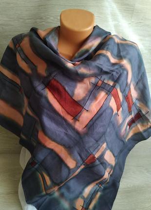 Красивый шелковый платок 100%шелк