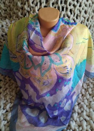 Большой шелковый платок 100%шелк