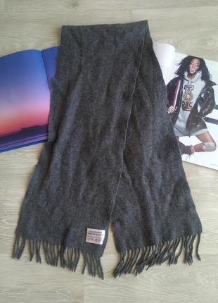 Серый кашемировый шарф