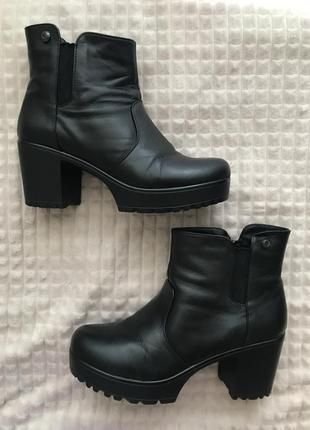 Демисезонные ботинки, 40р, натуральная кожа