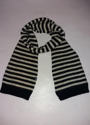 Тёплый шарф в полоску