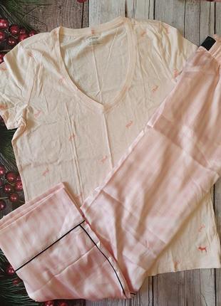 Домашний комплект пижама виктория сикрет victoria's secret оригинал