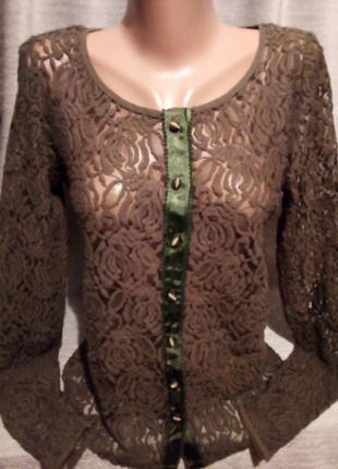 Красивая гипюровая блузочка 1060 новое сток