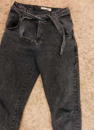 Пролам серые джинсы  мом