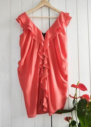 Платье рюши от h&m, размер xs-s
