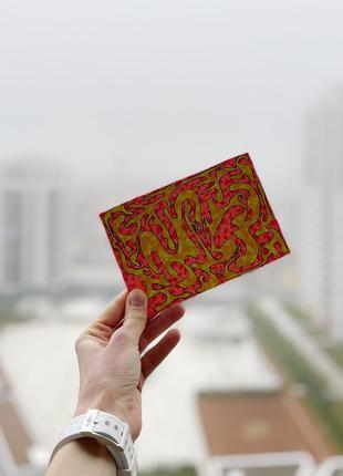Картина рисунок открытка яркая абстракция жёлто-розовая акрилом don.bacon