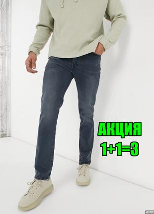 💥1+1=3 фирменные серо-синие мужские джинсы levis, размер 48 - 50