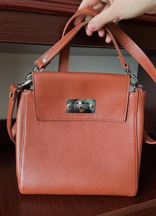 Кожаная сумка с кошельком